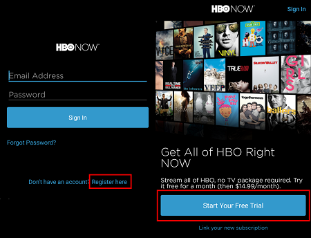 HBO NOW Sign In