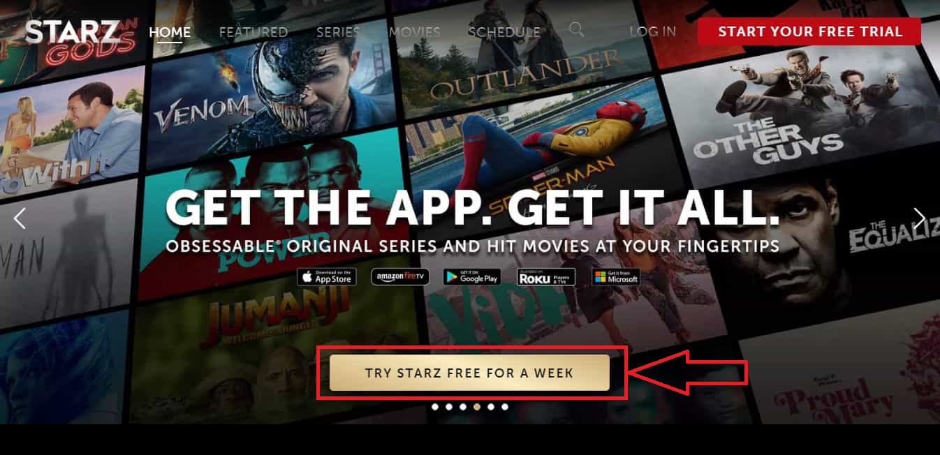 Starz Free Trial for a week