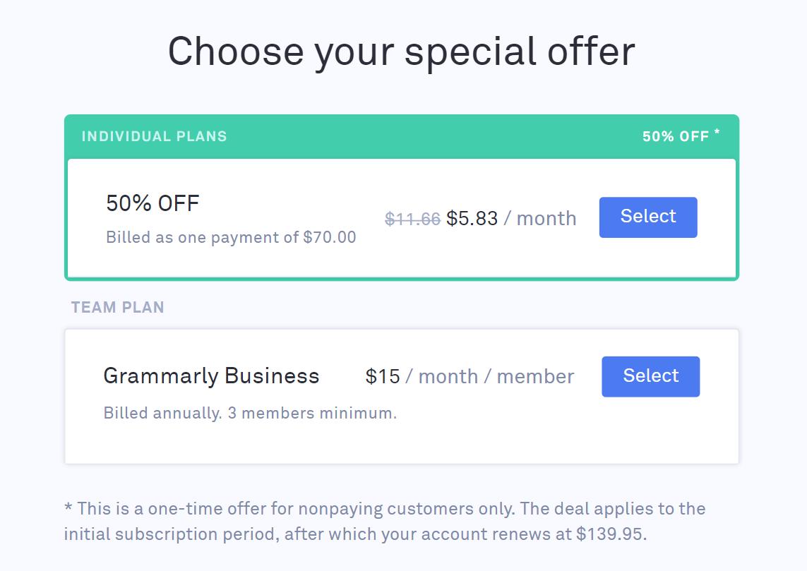 Choose Special Offer