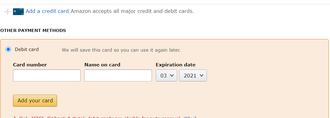 Fill Out Your Card Details