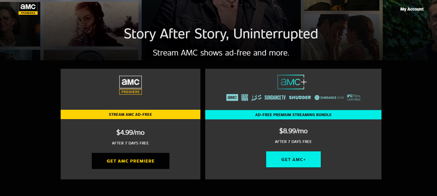 Pricing of AMC Premiere