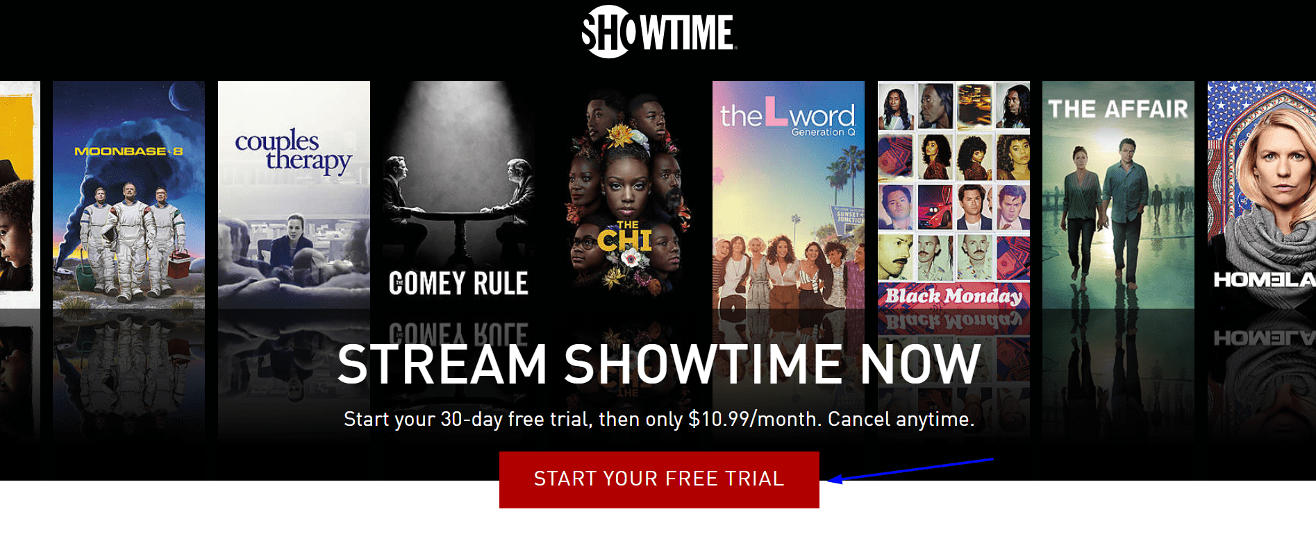 ShowTime start your free trial