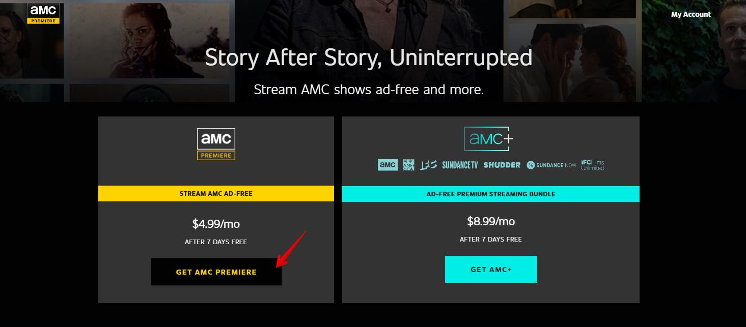 Visit the AMC Premiere website