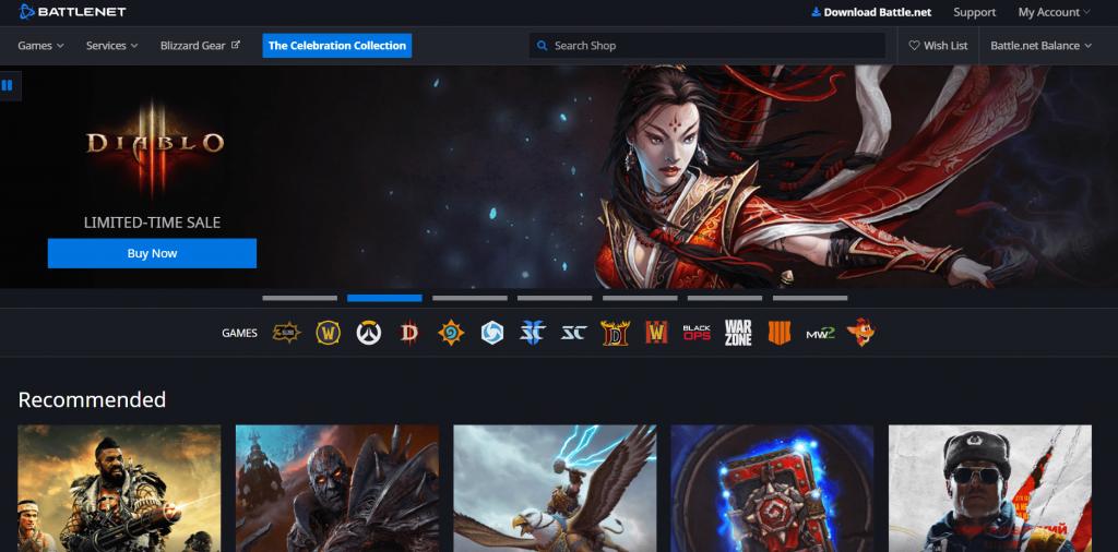 Battle.Net Page