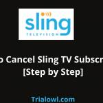 Cancel SLing TV