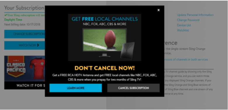 Confirm To Cancel Subscription