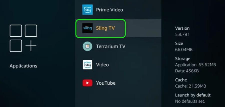 Open Sling TV On FireStick
